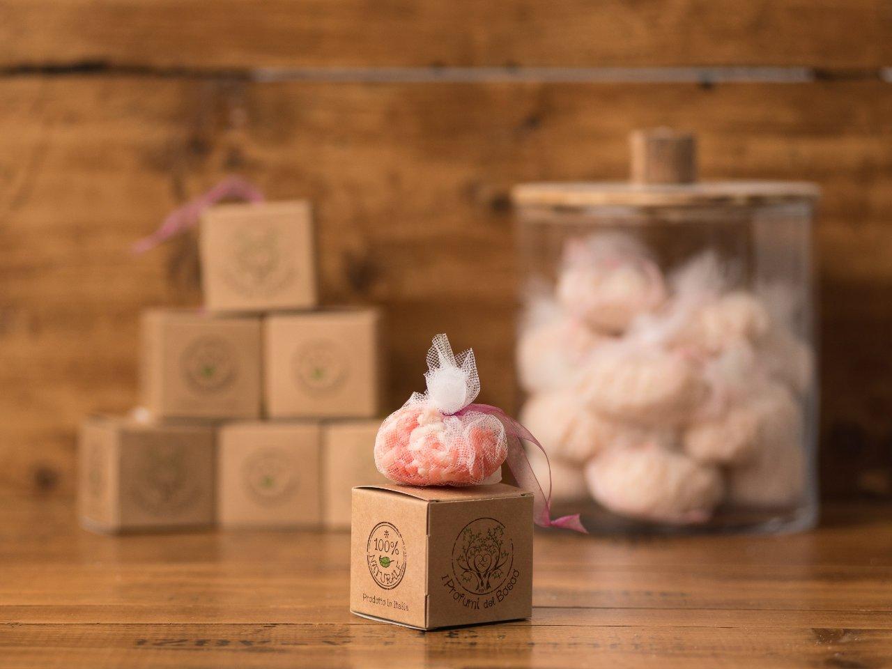Sacchetto da doccia alla rosa e burro di karité