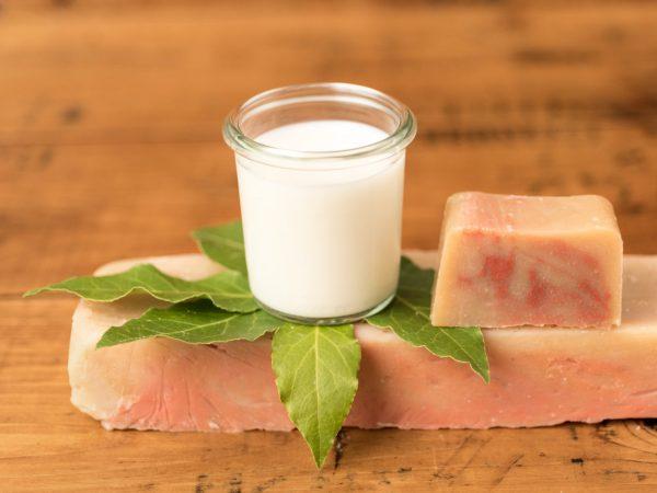 Sapone naturale al latte d'asina e alloro