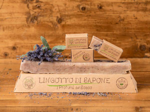 Lingotto di sapone naturale alla lavanda biologica