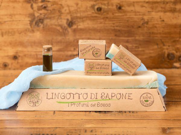 Lingotto di sapone naturale all'olio di Neem e patchouli